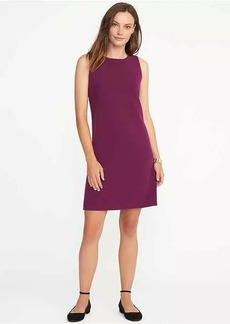 Sleeveless Ponte-Knit Shift Dress for Women