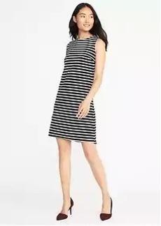 Sleeveless Ponte-Knit Shift Dress for Women
