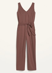 Old Navy Sleeveless Ponte-Knit Tie-Belt Jumpsuit for Women