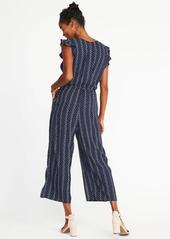 f6b9864dcbe Old Navy Sleeveless Ruffle-Trim Waist-Defined Jumpsuit for Women ...