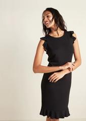 Old Navy Sleeveless Ruffle-Trim Sheath Dress for Women
