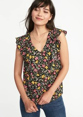 Old Navy Sleeveless Ruffle-Trim Top for Women