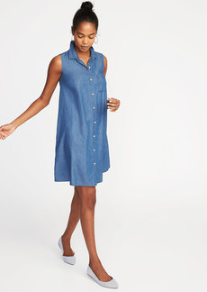 Sleeveless Shirt Dress for Women