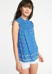 05c4f5da464a Old Navy Sleeveless Smocked-Yoke Swing Top for Women | Casual Shirts