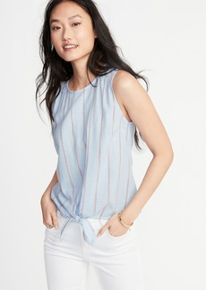 Old Navy Sleeveless Striped Tie-Hem Top for Women