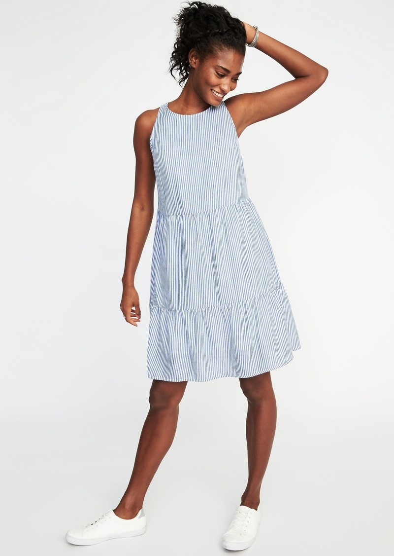 8b3d976672c8d Old Navy Sleeveless Striped Tiered Swing Dress for Women