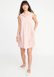 Sleeveless Swing Shirt Dress for Women