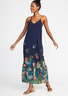 Sleeveless Floral Maxi Shift Dress for Women