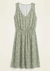 Old Navy Sleeveless Waist-Defined V-Neck Dress for Women