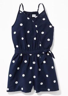 Old Navy Sleeveless Wrap-Front Romper for Girls