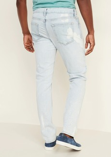 Old Navy Slim Built-In Flex Bleach-Spot Jeans for Men