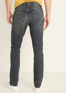 Old Navy Slim Built-In Flex Dark Stone-Wash Jeans for Men