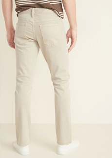 Old Navy Slim Built-In Flex Distressed Khaki-Wash Jeans for Men