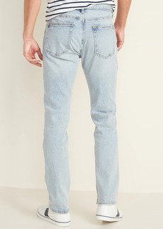 Old Navy Slim Built-In Flex Distressed Light-Wash Jeans for Men