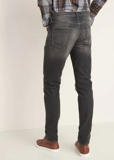 Old Navy Slim Distressed Built-In Flex Black Jeans for Men