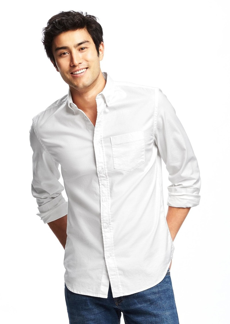 Old Navy Slim-Fit Clean-Slate Everyday Oxford Shirt for Men