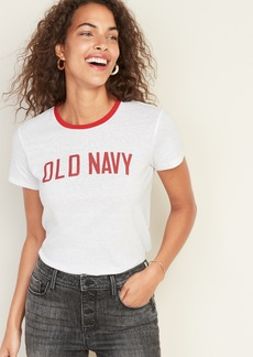 Old Navy Slim-Fit Logo-Graphic Tee for Women