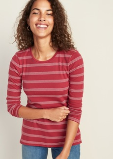 Old Navy Slim-Fit Striped Rib-Knit Tee for Women