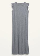 Old Navy Slub-Knit Flutter-Sleeve Midi Shift Dress for Women