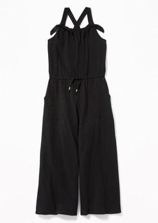 Old Navy Slub-Knit Jersey Sleeveless Jumpsuit for Girls