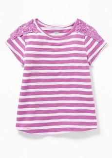 Old Navy Slub-Knit Lace-Trim Tee for Toddler Girls
