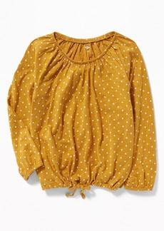 Old Navy Slub-Knit Off-the-Shoulder Tie-Hem Top for Girls