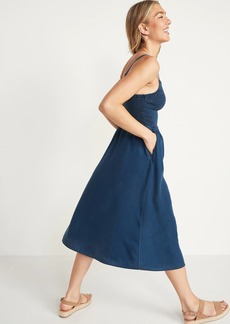 Old Navy Smocked Fit & Flare Cami Midi Dress for Women