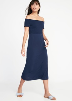 Old Navy Smocked Off-the-Shoulder Jersey Midi Dress for Women