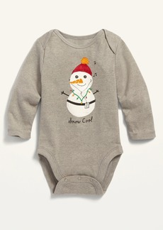 Old Navy Snowman-Graphic Long-Sleeve Bodysuit for Baby
