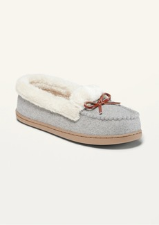 Old Navy Soft-Brushed Faux-Fur Lined Moccasin Slippers for Women