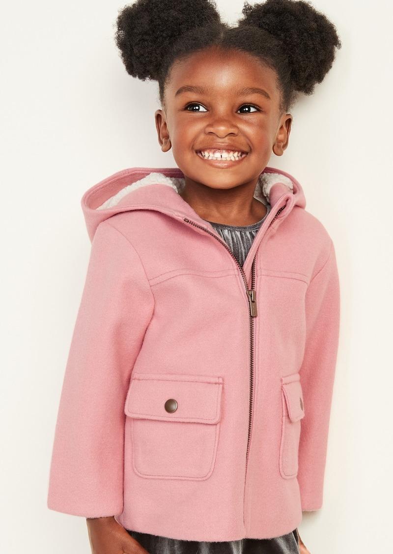 Old Navy Soft-Brushed Hooded Coat for Toddler Girls