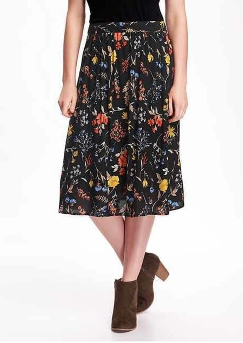 Old Navy Soft Drapey Midi Skirt for Women