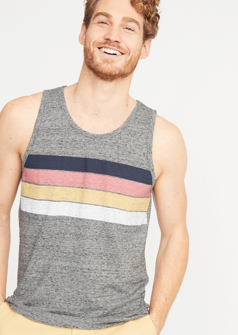 82027066d0 SALE! Old Navy Soft-Washed Chest-Stripe Tank for Men