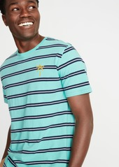 Old Navy Soft-Washed Striped Embroidered-Graphic Tee for Men