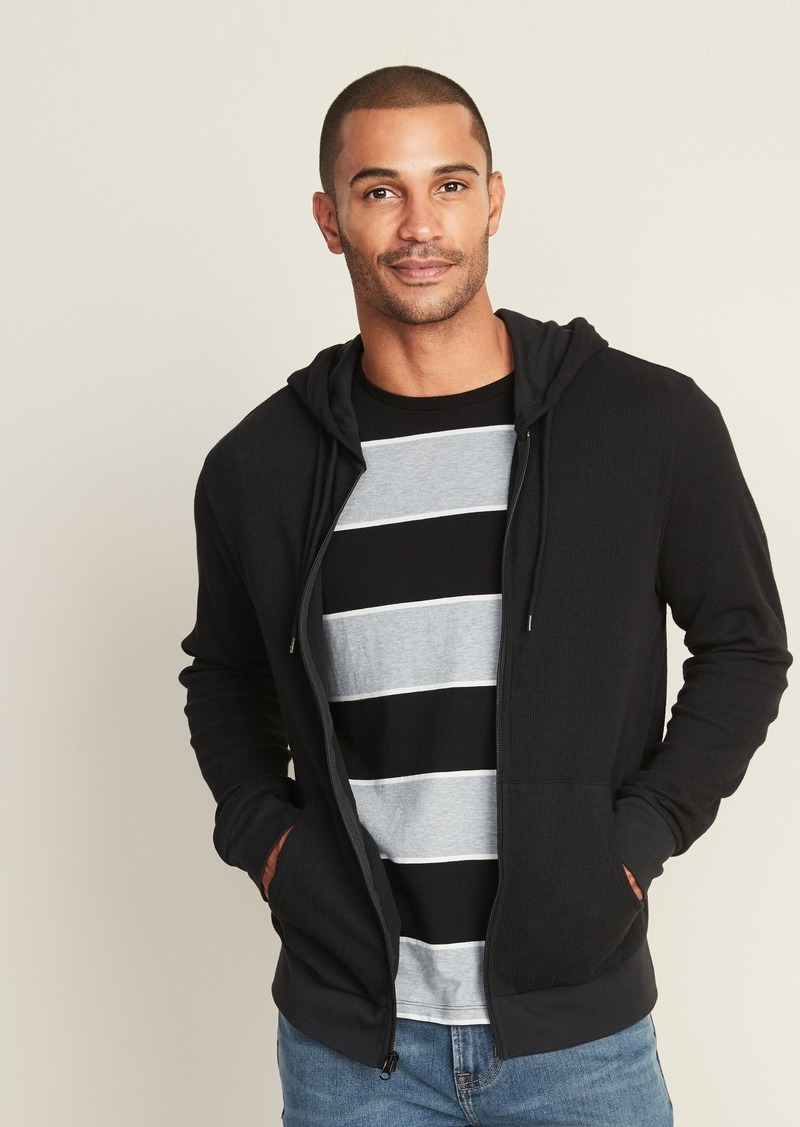 Old Navy Soft-Washed Thermal Zip Hoodie for Men