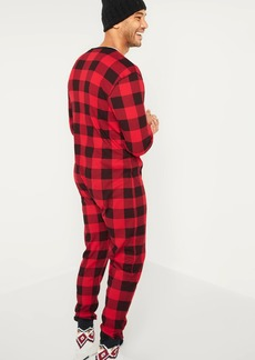 Old Navy Soft-Washed Waffle-Knit One-Piece Pajamas for Men