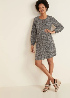 Old Navy Soft-Woven Keyhole Swing Dress for Women