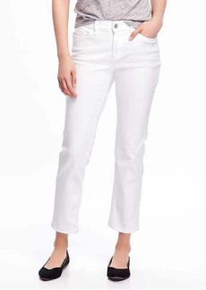 Old Navy Stay-White Boyfriend Straight Jeans for Women
