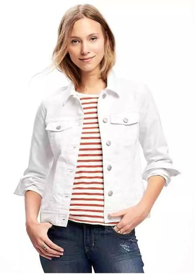 208841ac2dc Old Navy Stay-White Denim Jacket for Women Now $19.97