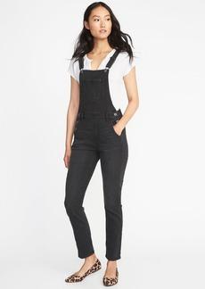 Old Navy Straight Black-Wash Denim Overalls for Women