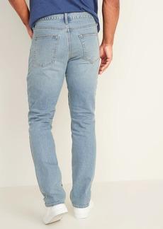 Old Navy Straight Built-In Flex Light-Wash Jeans For Men