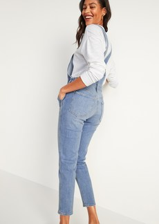 Old Navy O.G. Straight Medium-Wash Jean Overalls for Women