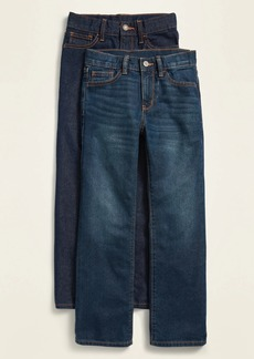 Old Navy Straight Non-Stretch Dark-Wash Jeans 2-Pack for Boys