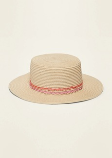 Old Navy Straw Boater Hat for Girls