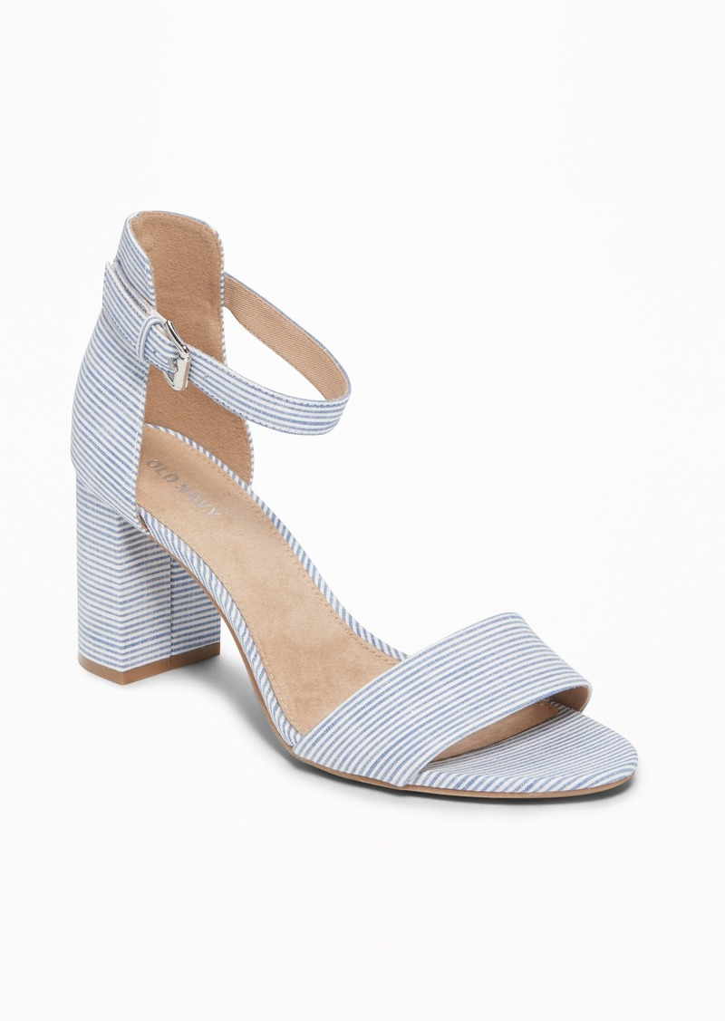 82ba8913989 Old Navy Striped Block-Heel Sandals for Women