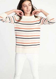 Old Navy Striped Crew-Neck Sweater for Women