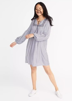 Old Navy Striped Embroidered Shift Dress for Women