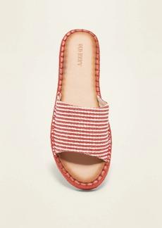 Old Navy Striped Espadrille Slide Sandals for Women