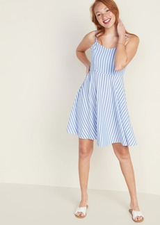 Old Navy Striped Fit & Flare Cami Dress for Women