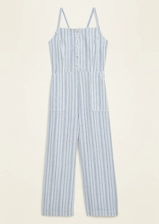Old Navy Striped Linen-Blend Cami Jumpsuit for Women